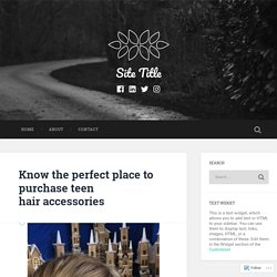 Know the perfect place to purchase teen hair accessories – Site Title