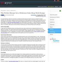 The Perfect Recipe for a Delicious Cake Shop Web Design