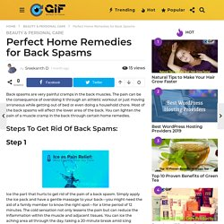 Perfect Home Remedies for Back Spasms - Global In Focus