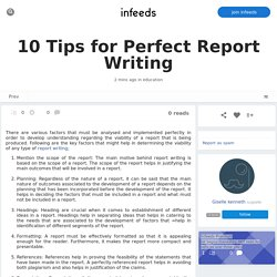 10 Tips for Perfect Report Writing