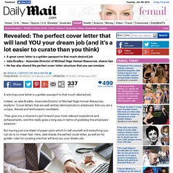 The perfect cover letter revealed by Michael Page HR