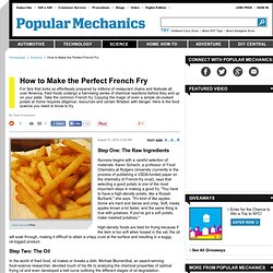How to Make the Perfect French Fry - Science of Frying
