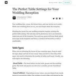 The Perfect Table Settings for Your Wedding Reception