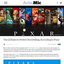 The 22 Rules to Perfect Storytelling, According to Pixar