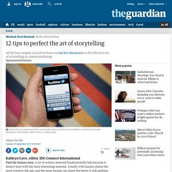 12 tips to perfect the art of storytelling
