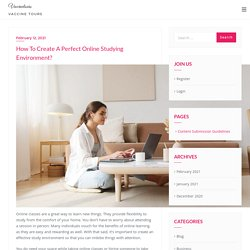 How To Create A Perfect Online Studying Environment?