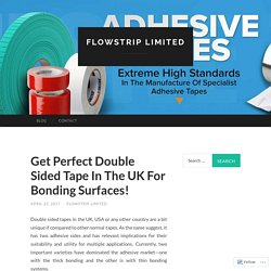 Get Perfect Double Sided Tape In The UK For Bonding Surfaces!