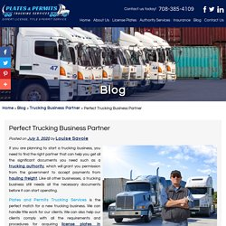 Perfect Trucking Business Partner
