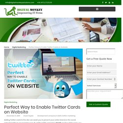 Perfect Way to Enable Twitter Cards on Website