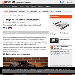 Pro tips: 20 steps to the perfect website layout