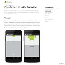 Pixel-Perfect UI in the WebView