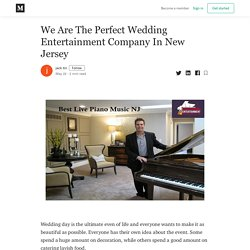 We Are The Perfect Wedding Entertainment Company In New Jersey