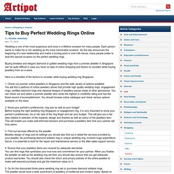 Tips to Buy Perfect Wedding Rings Online