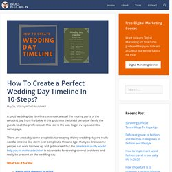How To Create a Perfect Wedding Day Timeline In 10-Steps?