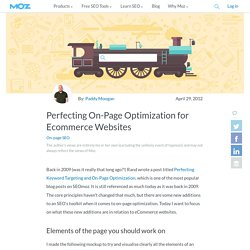 Perfecting On-Page Optimization for Ecommerce Websites