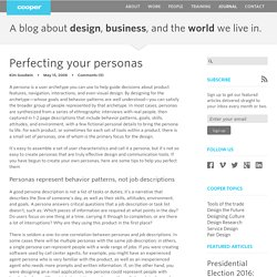 Perfecting your personas