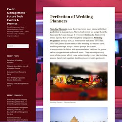 Perfection of Wedding Planners