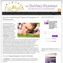 Perfectionism – Signs and Symptoms of Perfectionists | DaVinci Dilemma