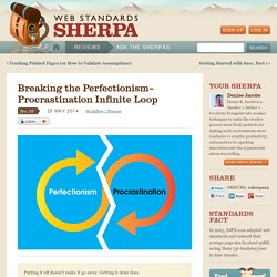 Breaking the Perfectionism–Procrastination Infinite Loop
