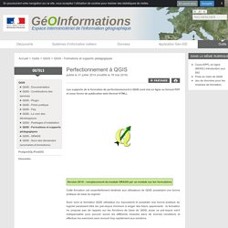 Perfectionnement à QGIS