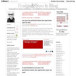 css pour les perfectionnistes des approches typo du web - design