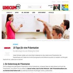 Die perfekte Präsentation: 10 Tipps - UNICUM ABI