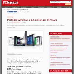 Perfekte Windows-7-Einstellungen für SSDs