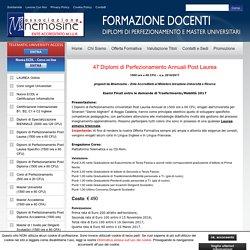 47 Diplomi di Perfezionamento Annuali Post Laurea - Ass. Mnemosine