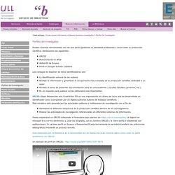 Perfiles del investigador (ULL)