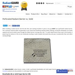 Wall - Perforated Radiant Barrier vs. Solid - When To Use