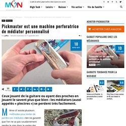 Pickmaster est une machine perforatrice de médiator personnalisé