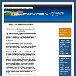 How to perform wudhu (Ablution, wuzu, ghusl) Muslim prayer