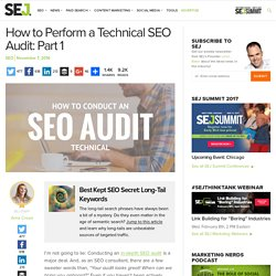 How to Perform an SEO Audit: Part 1 Technical