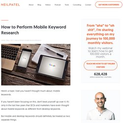 How to Perform Mobile Keyword Research
