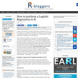 How To Perform A Logistic Regression In R