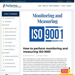 How to perform monitoring and measuring ISO 9001