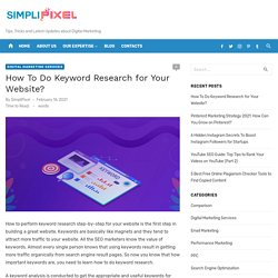 How to Perform Keyword Research Step-by-Step - SimpliPixel