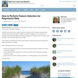 How to Perform Feature Selection for Regression Data