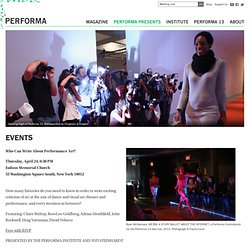 Performa · EVENTS