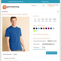 Gildan Performance T-Shirt - Garment Printing