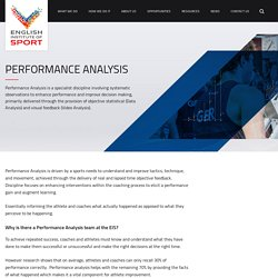 Performance Analysis - English Institute of Sport