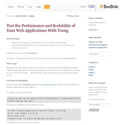 Test the Performance and Scalability of Your Web Applications With Tsung | BeeBole