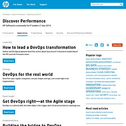 Welcome to HP's Discover Performance Community for IT Applications Leaders