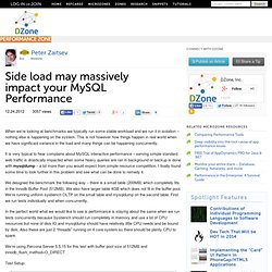 Side load may massively impact your MySQL Performance
