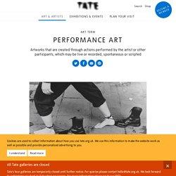 Performance art – Art Term