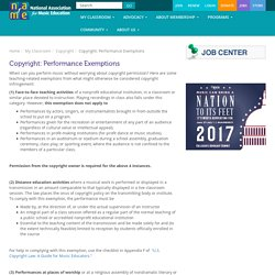 Copyright: Performance Exemptions - National Association for Music Education (NAfME)