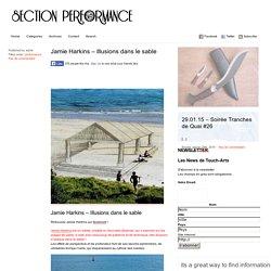 Section PERFORMANCE – Association Touch-arts » Jamie Harkins – Illusions dans le sable