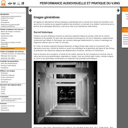 Performance audiovisuelle et pratique du VJing