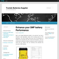 Enhance your SMF battery Performance