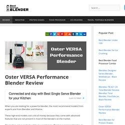 Oster VERSA Performance Blender Review